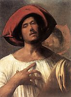 Young man (The impassioned singer) , giorgione