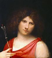 Youth holding an Arrow, giorgione