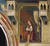 Annunciation: The Virgin Receiving the Message, giotto