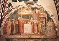 Annunciation to Zacharias, 1320, giotto