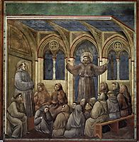 The Apparition at the Chapter House at Arles, 1300, giotto