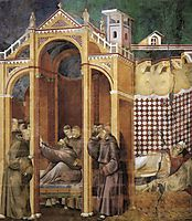 Apparition to Fra Agostino and to Bishop Guido of Arezzo, 1300, giotto