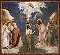 The Baptism of Christ, c.1305, giotto