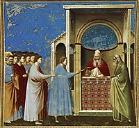 The Bringing of the Rods to the Temple, c.1306, giotto
