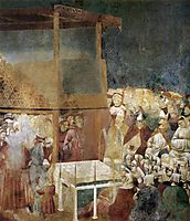 Canonization of St Francis, 1300, giotto