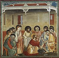 Christ Washing the Disciples- Feet, c.1305, giotto