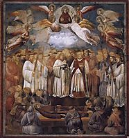 Death and Ascension of St. Francis, 1300, giotto
