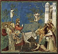 The Entry into Jerusalem, c.1305, giotto