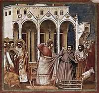 Expulsion of the Money-changers, c.1306, giotto