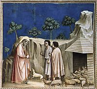 Joachim among the Shepherds, c.1306, giotto