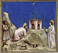 Joachim-s Sacrificial Offering, c.1306, giotto