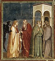 Judas Receiving Payment for his Betrayal, c.1306, giotto