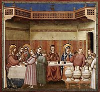 Marriage at Cana, c.1306, giotto
