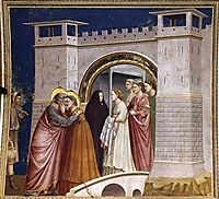 The Meeting at the Golden Gate, giotto
