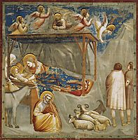Nativity. Birth of Jesus, c.1306, giotto