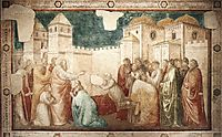 Raising of Drusiana, giotto