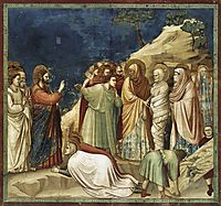 Raising of Lazarus, c.1306, giotto