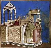 Rejection of Joachim-s Sacrifice, c.1306, giotto