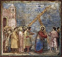 The Road to Calvary, c.1305, giotto