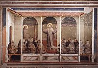 St. Francis Appears to St. Anthony in Arles, 1325, giotto
