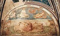 St John on Patmos, 1320, giotto