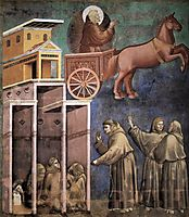 Vision of the Flaming Chariot, 1299, giotto
