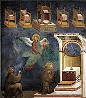 The Vision of the Thrones, 1299, giotto