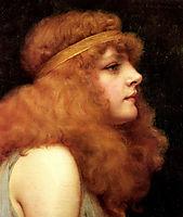 An Auburn Beauty, 1895, godward