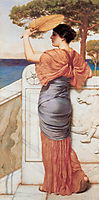 On the Balcony, 1911, godward