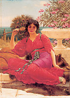 Flabellifera, oil study, 1905, godward