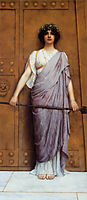 At the Gate of the Temple, 1898, godward