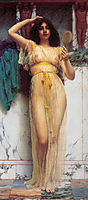 Girl with a Mirror, 1892, godward