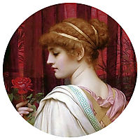 Girl with Red Rose, 1902, godward