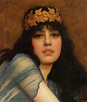 Head of a Girl (also known as The Priestess), 1896, godward