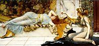 Mischief and Repose, 1895, godward