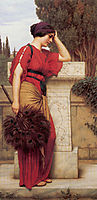 La Pensierosa or The Thinker, 1913, godward