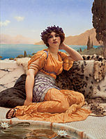 With Violets Wreathed and Robe of Saffron Hue, 1902, godward