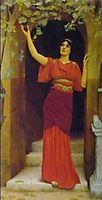 Young Girl Picking Grapes, 1902, godward