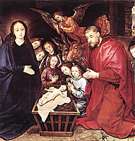 The Adoration of the Shepherds, c.1480, goes