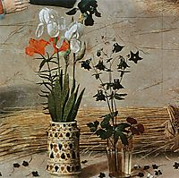 Flower (detail from the central panel of the Portinari Altarpiece) , c.1479, goes