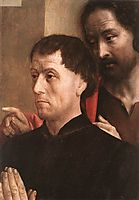 Portrait of a Man of Prayer with St. John the Baptist , c.1475, goes