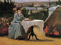 Afternoon Tea (aka On the Terrace), 1875, gonzales