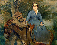 The Donkey Ride, 1880, gonzales