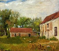 Farm at Rebais, c.1872, gonzales