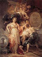 Allegory of Madrid, 1810, goya