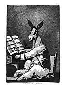 As Far back as his Grandfather, 1799, goya