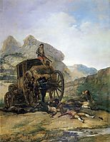 Attack on a Coach, 1793, goya