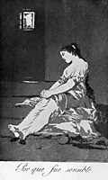 Because she was susceptible, 1799, goya