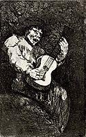 Blind singer, c.1820, goya