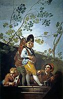 Boys playing soldiers, 1779, goya